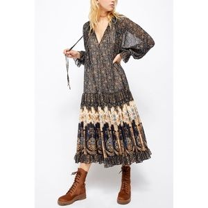 Free People Feeling Groovy Boarder Print Maxi